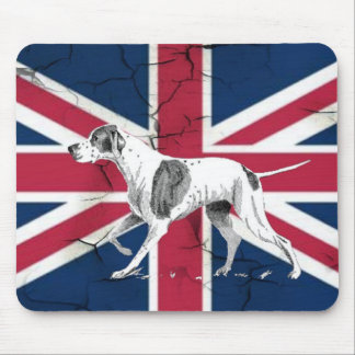 Rétro chien anglais d'indicateur des syndicats de tapis de souris
