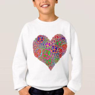 Rétro coeur vintage de paix sweatshirt