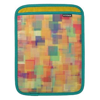 Rétro conception abstraite d'art d'arc-en-ciel poches iPad