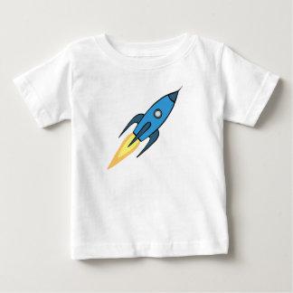 Rétro conception bleue et blanche de bande t-shirt pour bébé