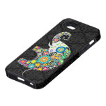 Rétro conception colorée d'éléphant de fleur iPhone 5 case