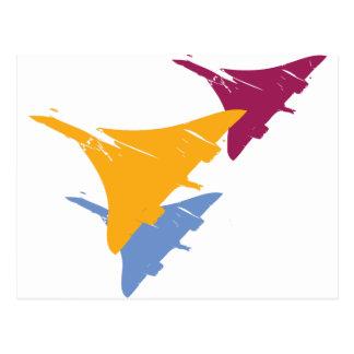 Rétro conception de vol d'aviation d'avion de carte postale
