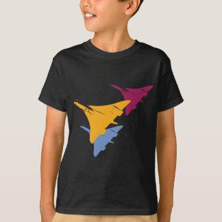 Rétro conception de vol d'aviation d'avion de t-shirt