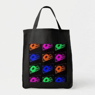 rétro conception des années 80 - bandes de sacs en toile