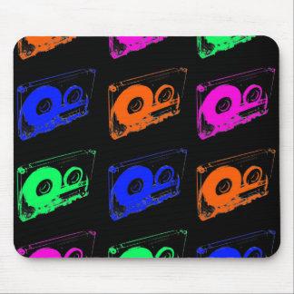 rétro conception des années 80 - bandes de tapis de souris