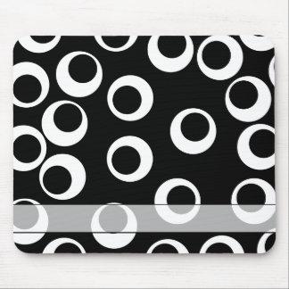 Rétro conception noire et blanche à la mode. Coutu Tapis De Souris