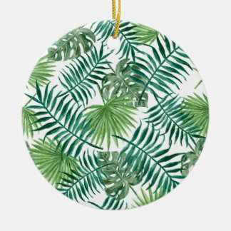 Rétro conception verte de motif de style de ornement rond en céramique