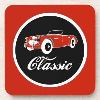 Rétro convertible d'années '50 classiques de sous-bock