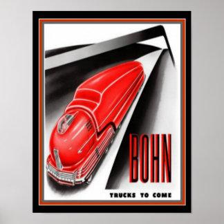 Rétro copie futuriste 11 x 14 d'annonce de camion poster