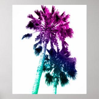 Rétro copie vintage de palmier d'art de bruit poster