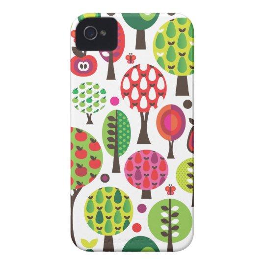 R tro coque iphone de motif de papillon de pomme d - Pomme papillon ...