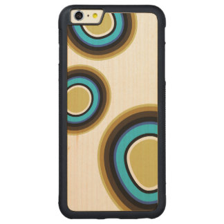 Rétro coque iphone en bois d'anneaux
