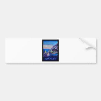 Rétro côte Italie d'Amalfi d'affiche Autocollant De Voiture