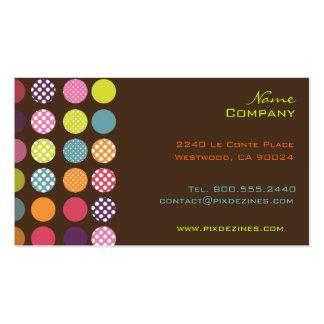 Rétro couleur géniale d'arrière - plan des points  cartes de visite professionnelles