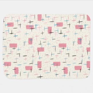 Rétro couverture rose atomique de bébé de motif couverture pour bébé