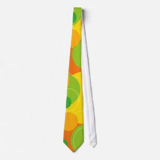 Rétro cravate de chaux de citron d'agrume