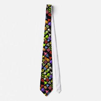 Rétro cravate de Gamer d'arcade du pixel 8bit