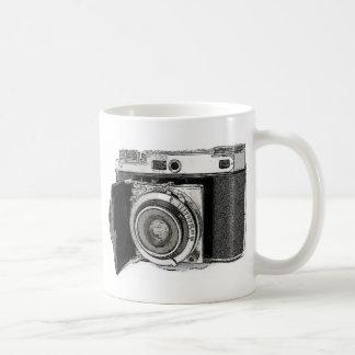 Rétro croquis de dessin de photographie mug
