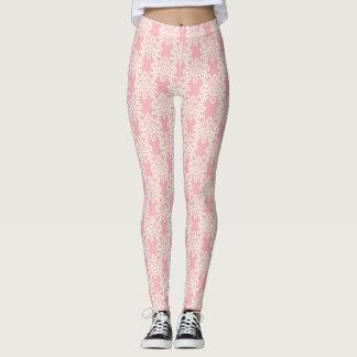 Rétro damassé florale leggings