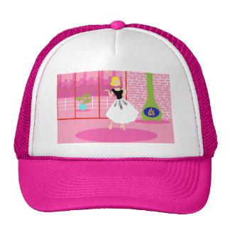 Rétro dans le casquette rose de camionneur