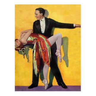Rétro danse vintage de danseurs de Deco de kitsch Cartes Postales
