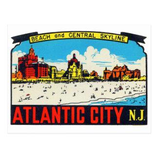 Rétro décalque vintage Atlantic City, NJ de kitsch Carte Postale
