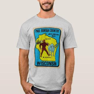 Rétro décalque vintage du Wisconsin Paul Bunyan de T-shirt