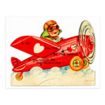 Rétro dessus vintage de Valentine de l'avion du mo Cartes Postales