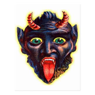 Rétro diable vintage Satan Lucifer de kitsch de Carte Postale