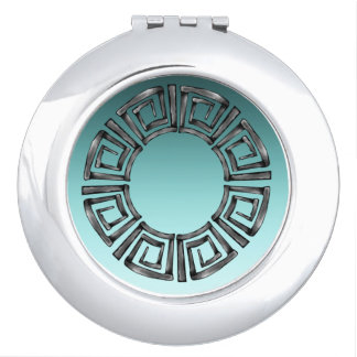 Rétro disque grec en pierre miroirs à maquillage