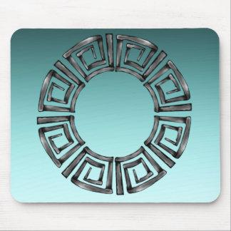 Rétro disque grec en pierre tapis de souris