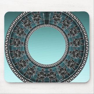 Rétro disque grec tapis de souris