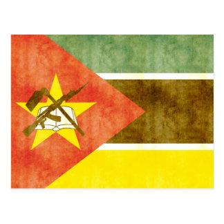 Rétro drapeau vintage de la Mozambique Carte Postale