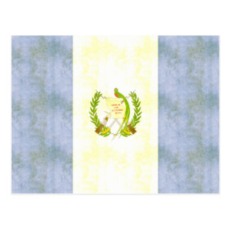 Rétro drapeau vintage du Guatemala Cartes Postales