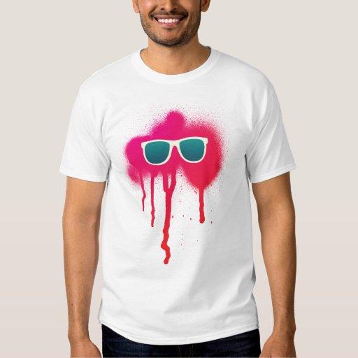 Rétro éclaboussure de lunettes de soleil t-shirts