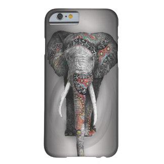 Rétro éléphant mignon de fleur coque iPhone 6 barely there