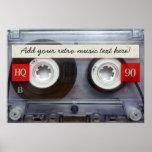 Rétro enregistreur à cassettes d'amusement affiches
