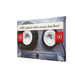 Rétro enregistreur à cassettes d'amusement toiles tendues