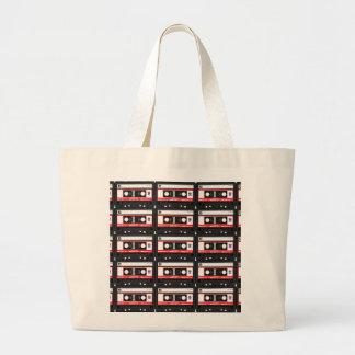Rétro enregistreur à cassettes des années 80 grand sac