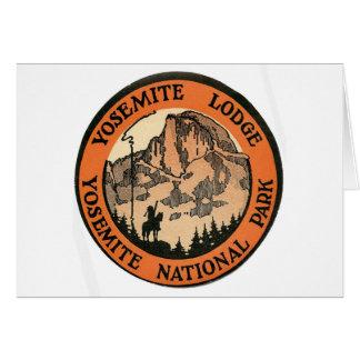 Rétro étiquette vintage de loge de Yosemite Carte De Vœux
