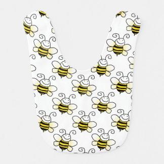 Rétro fait sur commande gaffent le bébé d'abeilles bavoir