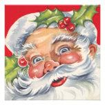 Rétro fête de Noël gaie vintage du père noël Bristol Personnalisé
