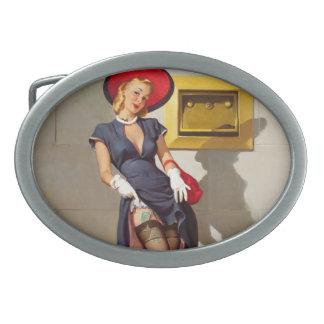 Rétro fille Pin- Boucles De Ceinture Ovales