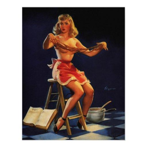 Rétro fille vintage de pin-up de fabricant de bonb bristols