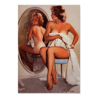 Rétro fille vintage de pin-up de Gil Elvgren Sun Carton D'invitation 8,89 Cm X 12,70 Cm