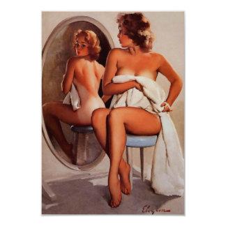 Rétro fille vintage de pin-up de Gil Elvgren Sun Invitations