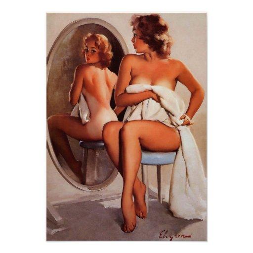 Rétro fille vintage de pin-up de Gil Elvgren Sun T Invitations