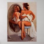 Rétro fille vintage de pin-up de Gil Elvgren Sun T Affiche