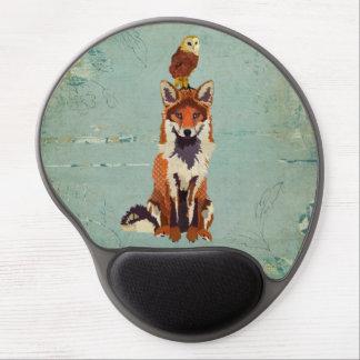 Rétro Fox et hibou Mousepad Tapis De Souris Gel