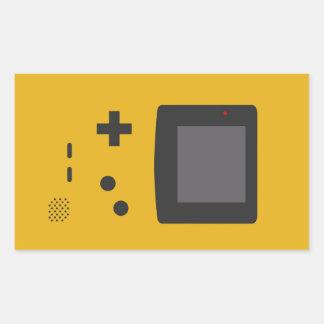 Rétro game sticker rectangulaire